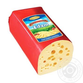 Сыр Wloszczowski Эдам 45% весовой - купить, цены на Фуршет - фото 1