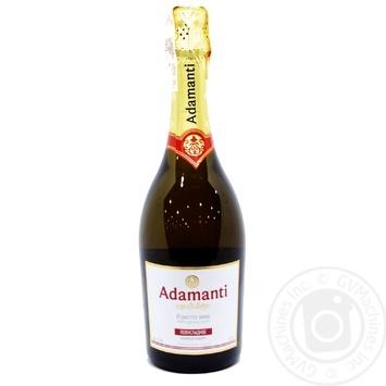 Вино ігристе Adamanti біле напівсолодке 12.5% 0,75л - купити, ціни на МегаМаркет - фото 1