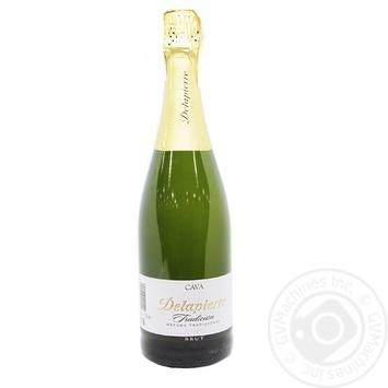 Вино игристое Cava Tradicion Delapierre Brut белое брют 11,5% 0,75л