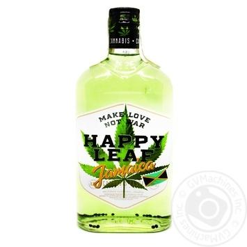 Настойка конопляная Happy Leaf Jamaica 38% 0,5л - купить, цены на Ашан - фото 1