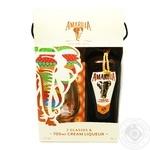 Лікер Amarula Cream&Marula Fruit 17% 0,7л + 2 склянки у коробці