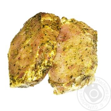 Стейк из бедра свинной в маринаде охлажденный - купить, цены на Фуршет - фото 1