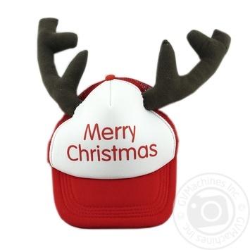 Капелюх з рогами новорічний Merry Christmas Koopman