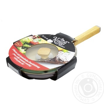 Krauff Frying Pan with Ceramic Covering with Glass Cover 24cm - buy, prices for MegaMarket - image 1