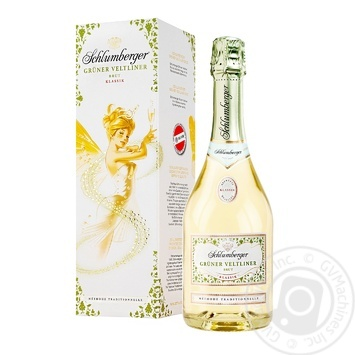 Вино игристое Schlumberger Gruner Veltliner Brut Klassik белое сухое 13% 0,75л - купить, цены на Ашан - фото 1