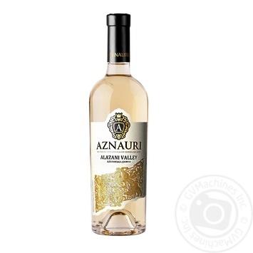 Wine Aznauri Alazani valley white semisweet 9-13% 750ml glass bottle Ukraine - buy, prices for Novus - image 1