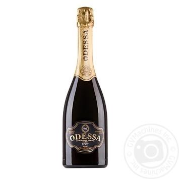 Шампанское Украины Odessa белое брют 10,5-12,5% 0,75л - купить, цены на Фуршет - фото 1