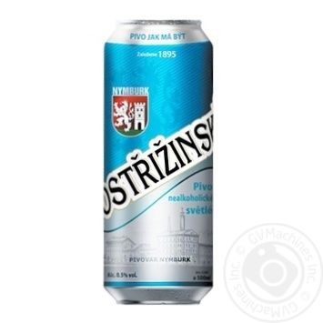 Пиво Postrizenske безалкогольное 0% ж/б 0.5л - купить, цены на Фуршет - фото 1