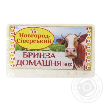 Сир Новгород-Сіверський Бринза Домашня 30% ваг. - купити, ціни на Фуршет - фото 1