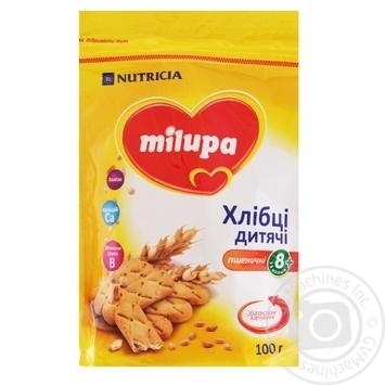 Хлебцы детские Milupa пшеничные 100г - купить, цены на МегаМаркет - фото 1