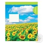 Зошит для нотаток А5 скоб 48 аркушів газет кліт №1 - купити, ціни на Фуршет - фото 1