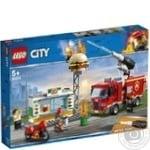 Конструктор Lego City Пожар в бургер-баре 60214