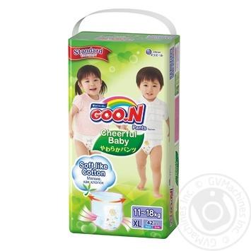 Подгузники-трусики GOO.N Cheerful Baby размер XL унисекс для детей 11-18кг 42шт