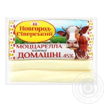 Сир Новгород-Сіверський Моцарелла 45% пал. ваг. - купити, ціни на Фуршет - фото 1