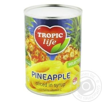 Pineapple rings Tropic life 580ml - buy, prices for Novus - image 1