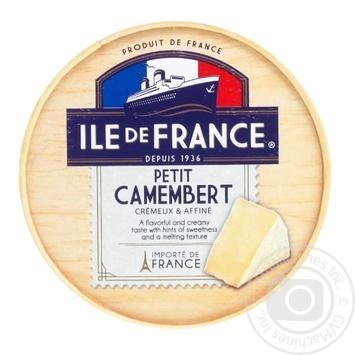 Сыр Ile de France petit Camembert мягкий 125г - купить, цены на МегаМаркет - фото 1