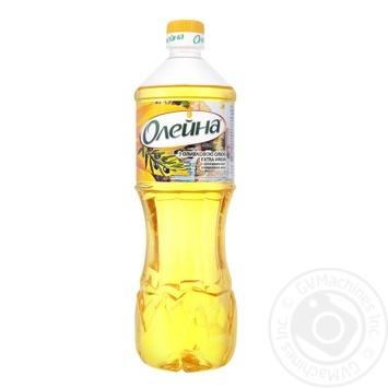 Масло Олейна купажированное подсолнечное с оливковым маслом Extra Virgin 870мл - купить, цены на Novus - фото 1