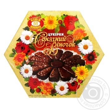 Конфеты Бисквит-Шоколад Солнечный веночек 500г - купить, цены на Фуршет - фото 1