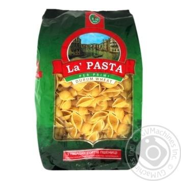Макарони ракушки Ла паста 400г - купити, ціни на CітіМаркет - фото 1