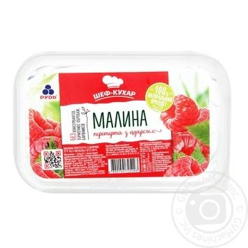 Малина Рудь перетёртая с сахаром замороженная 250г - купить, цены на Novus - фото 1
