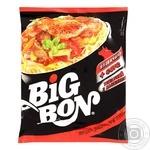 Лапша Big Bon Говядина + соус томатный с базиликом 75г