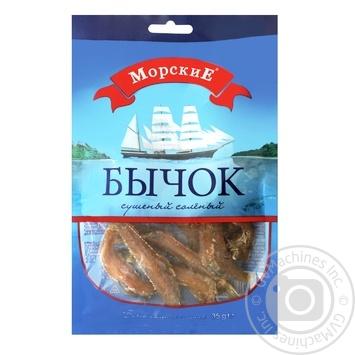 Бичок сушений солоний Морськие 35гр