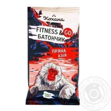 Батончик Кохана Fitness&Go Пряна Азія Малина 40г - купити, ціни на МегаМаркет - фото 1