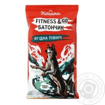 Батончик Кохана Fitness&Go Ягідна Північ Журавлина 40г - купити, ціни на МегаМаркет - фото 1