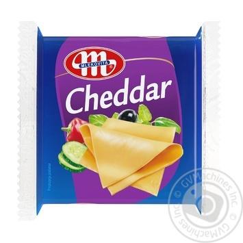 Mlekovita Processed Cheddar Cheese 49% 130g - buy, prices for Furshet - image 1