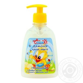 Soap-cream Yasne sonechko with chamomile for children 300ml - buy, prices for Furshet - image 1