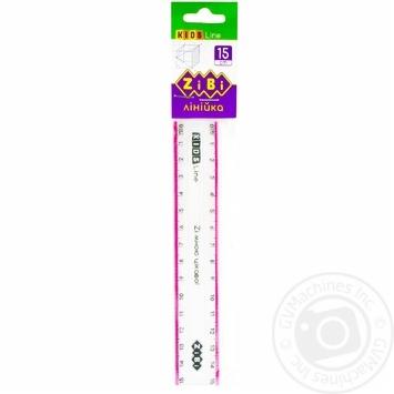 Лінійка Zibi пластикова 15см - купити, ціни на CітіМаркет - фото 2