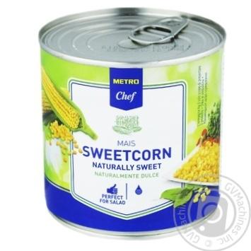 Кукуруза сахарная METRO Chef вакуумированная 425мл