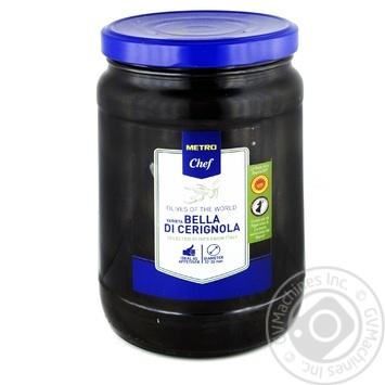 Оливки черные METRO Chef Cerignola 1,7л