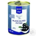 Metro Chef green pitted black 425ml