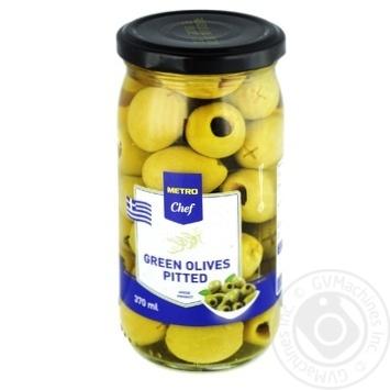 Оливки зеленые METRO Chef без косточки 370мл - купить, цены на Метро - фото 2