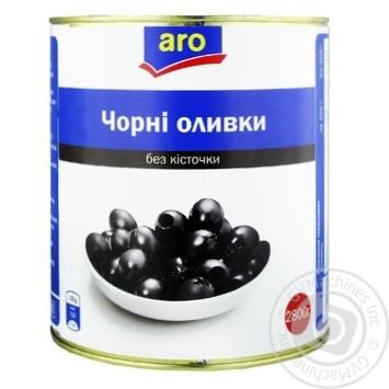 Оливки черные Aro без косточки 3100мл