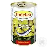 Оливки Иберика зеленые с анчоусом 314мл