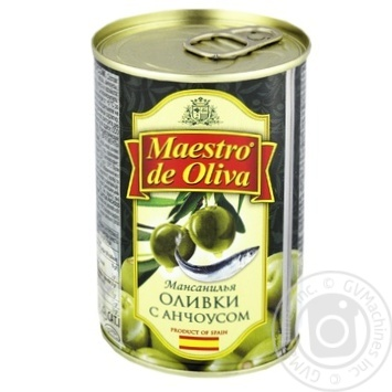 Maestro de Oliva With Anchovy Green Olives 314ml - buy, prices for Novus - image 1