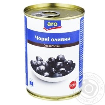 Оливки черные Aro без косточки 300г