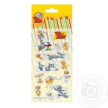 Cool For School Tom and Jerry Polymeric Volume Stickers 10x18cm - buy, prices for Furshet - image 1