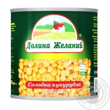 Dolina Zhekanii Sweet Selection Corn 425ml - buy, prices for EKO Market - photo 1