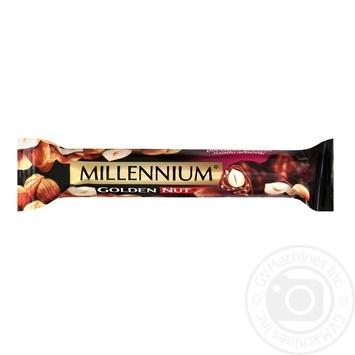 Батончик Millennium Golden Nut черный шоколад с лесным орехом 40г