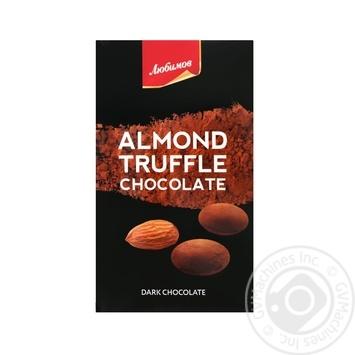 Lyubimov Almond Truffle Dark Chocolate Candy 100g - buy, prices for Tavria V - image 1