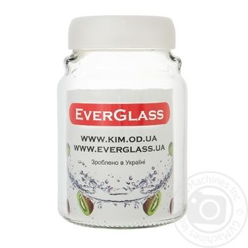 Банка стеклянная Everglass Велюр 900 мл - купить, цены на Фуршет - фото 1