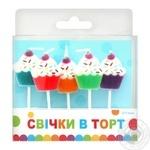Свеча Party Favors для торта 5шт