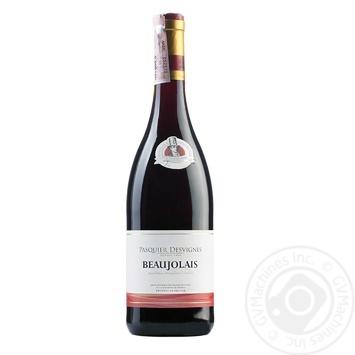 Вино Pasquier Desvignes Beaujolais красное сухое 12% 0.75л - купить, цены на УльтраМаркет - фото 1