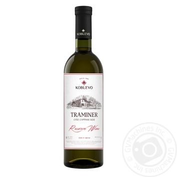 Вино Коблево Траминер Reserve Wine сухое белое 13% 0,75л - купить, цены на Novus - фото 1