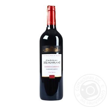 Вино Chateau Mukhrani Саперави Каберне красное сухое 12.5% 0,75л - купить, цены на Novus - фото 1