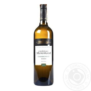 Вино Chateau Mukhrani Chardonnay белое сухое 12,5% 0,75л - купить, цены на Фуршет - фото 1