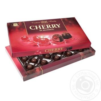 Конфеты Бисквит-Шоколад Вишня в шоколаде 285г - купить, цены на Фуршет - фото 1